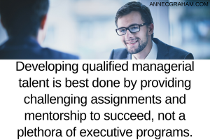 Developing Qualified Managerial Talent